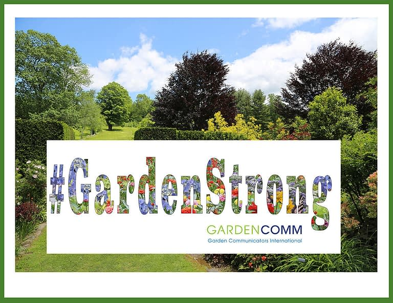 #GardenStrong graphic that provides support for growing extra produce in your garden to help the hungry